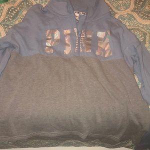 Blue and Grey Pink Sweatshirt